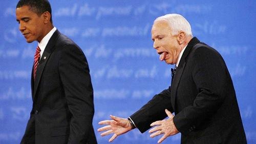 Barrack Obama and John McCain