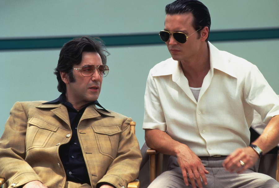 Johnny Depp With Al Pacino in Donnie Brasco
