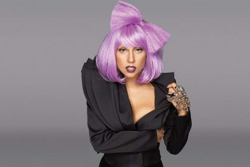 Lady Gaga Short Purple Hair