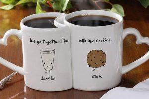 Romantic Personalized Coffee Mug Set
