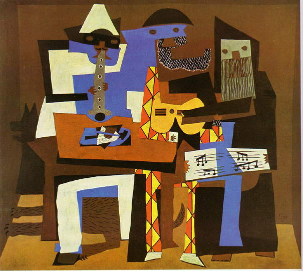 Three Musicians By Pablo Picasso