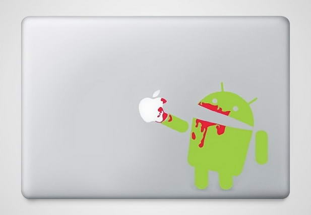 Angry Android Macbook Sticker - Creative Macbook Stickers