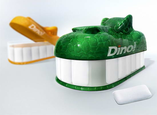 Dino Teeth Gum