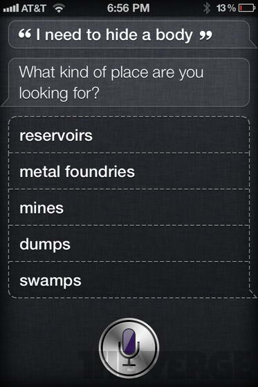 I need to hide a body siri