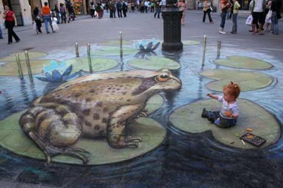 Sidewalk Art Frog