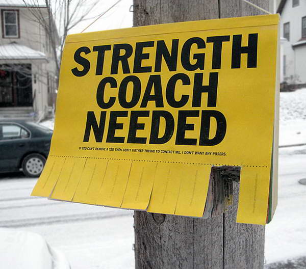 Strength Coach Needed