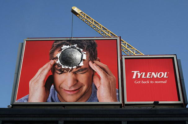 Tylenol - Extraordinary 3D Billboard Ads