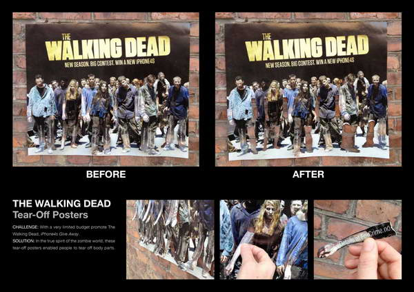 Walking Dead Creative Tear-Off Ads