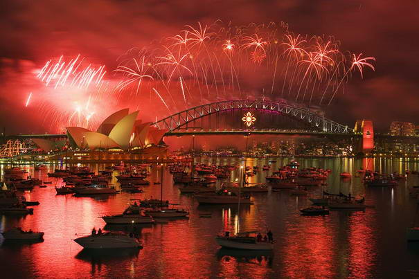 Celebrations in Sydney Harbour