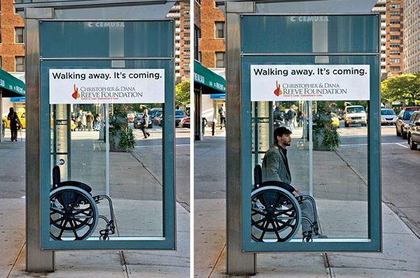 Wheelchair Bus Stop Ad Creative Bus Stop Advertisements