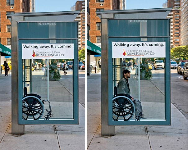 Wheelchair Bus Stop Ad Creative Bus Stop Advertisements