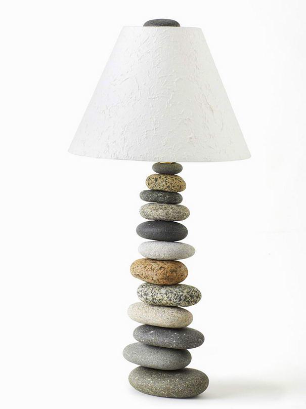 Balanced Stone Lamp