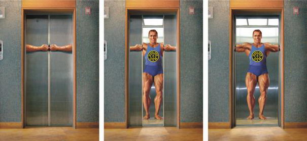 Golds Gym Elevator
