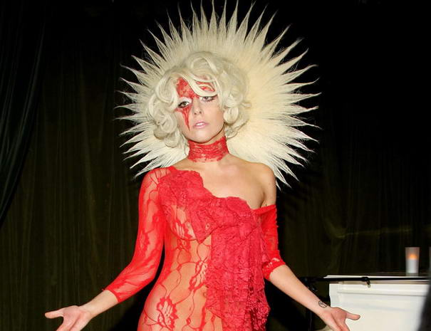 Lady Gaga Red Dress