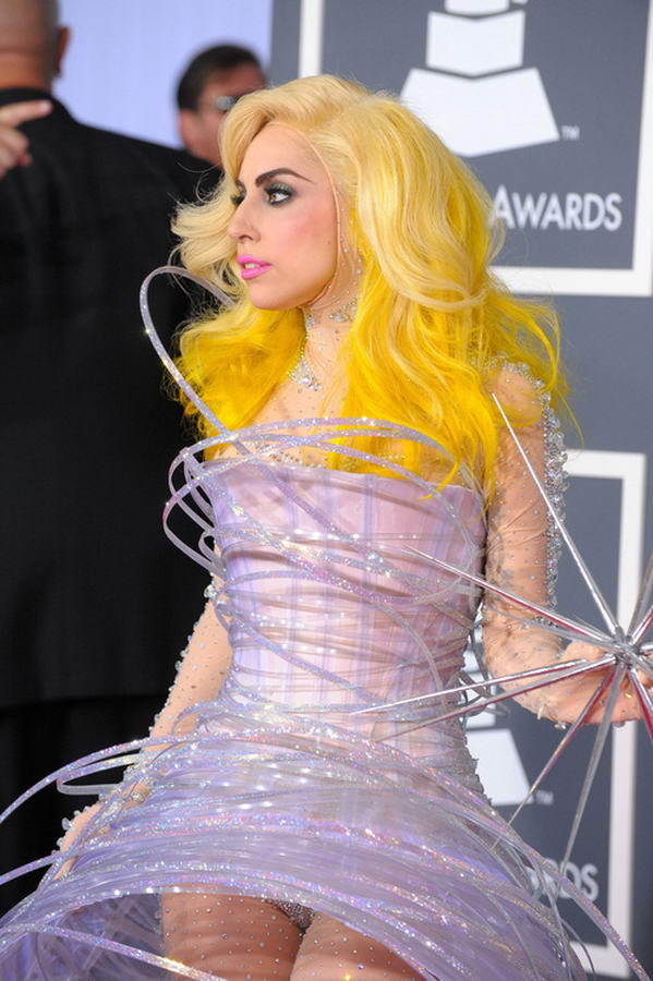 Lady Gaga Yellow Hair Different Hairstyles