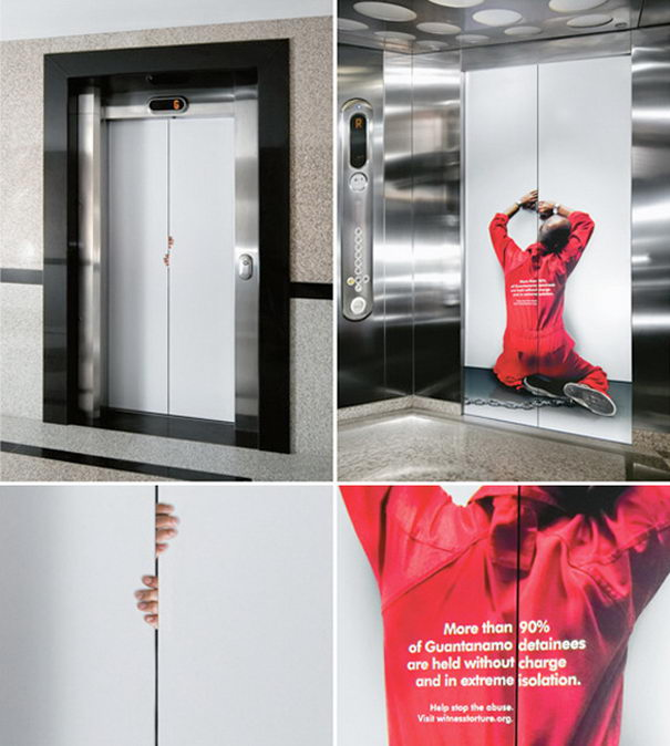Stop abuse Elevator Advertisements