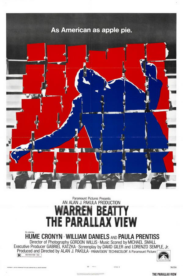 The Parallax View Poster Warren Beatty Movies