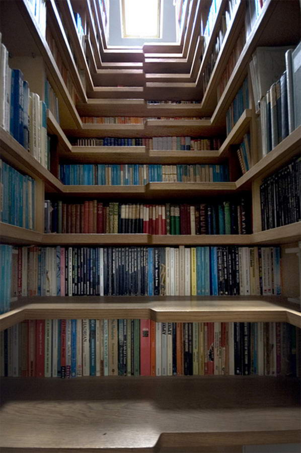 Book Storage Staircase By Levitate Architects (2) Staircase Designs