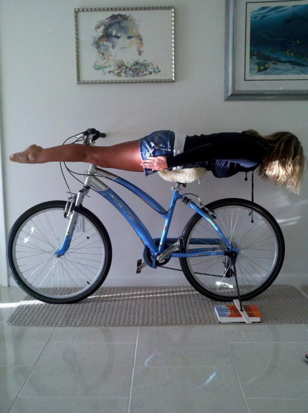 Planking On Bike Interesting Planking Photos