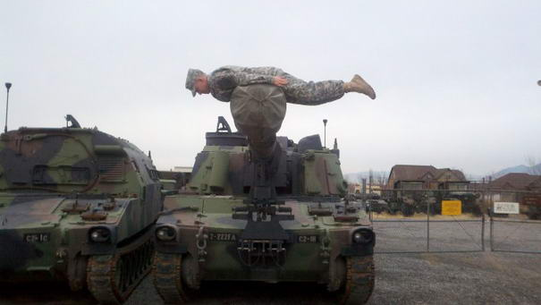 Planking On a Tank