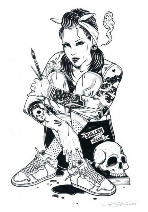 Tattoo Illustrations By Adam Isaac Jackson