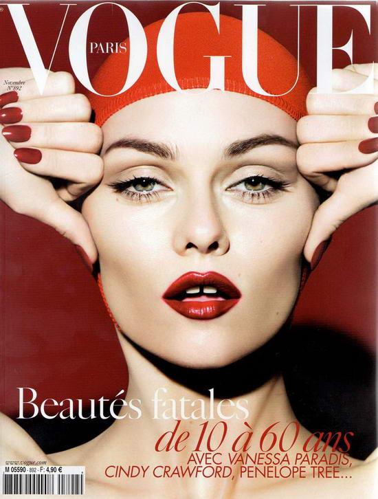 Vanessa Paradis On Vogue