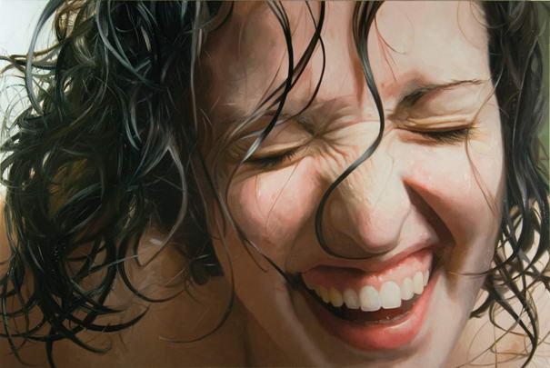 Laughing Girl Realistic Paintings