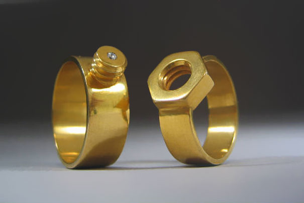 Nut and Bolt Wedding-Ring By Kiley Granberg