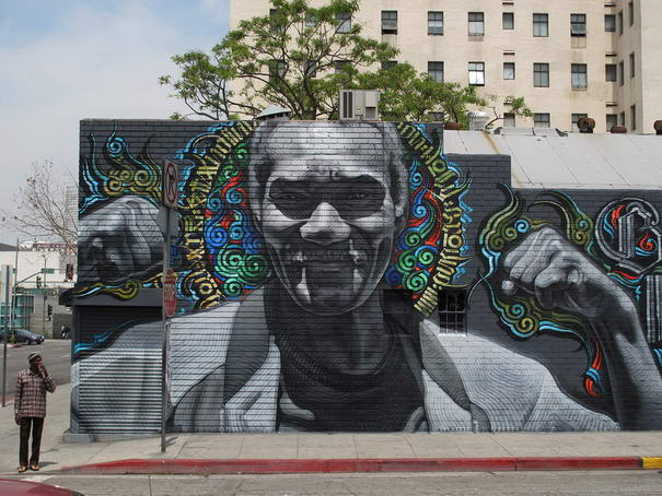 Skid Row (Blessed Are the Meek) Graffiti art