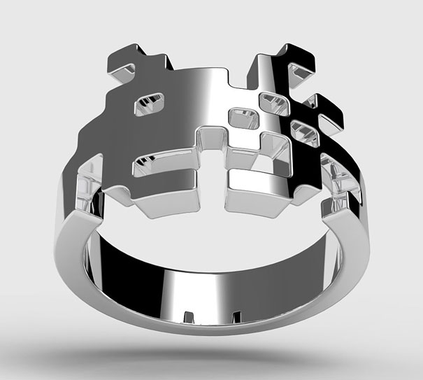 Space Invaders Ring By Tjep