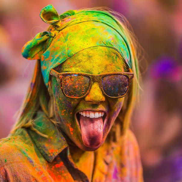 Yes! by Thomas Hawk Holi Festival