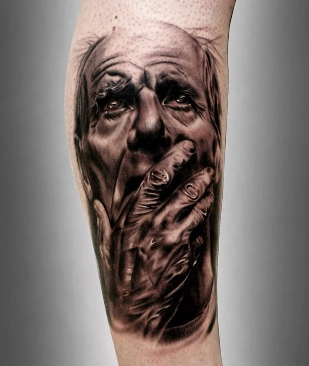 10 most realistic tattoo portraits by silvano fiato for Best realistic tattoo artists