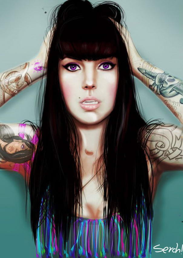 Tattooed Girls By Malo Galindo (9)