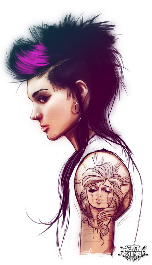 Tattooed Girls By Malo Galindo (8)