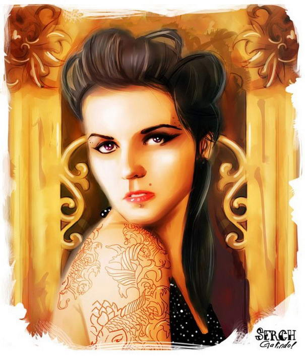 Tattooed Girls By Malo Galindo (4)