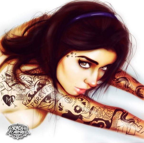 Tattooed Girls By Malo Galindo (3)