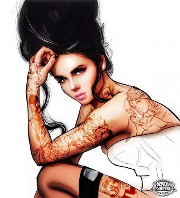 Tattooed Girls By Malo Galindo (1)