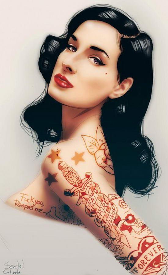 Tattooed Girls By Malo Galindo (7)