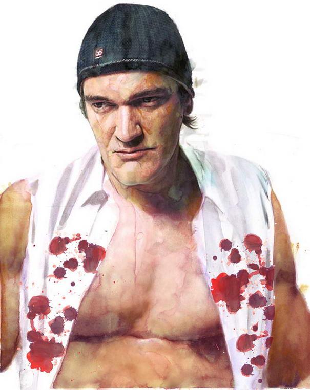 Quentin Tarantino Portrait Illustrations