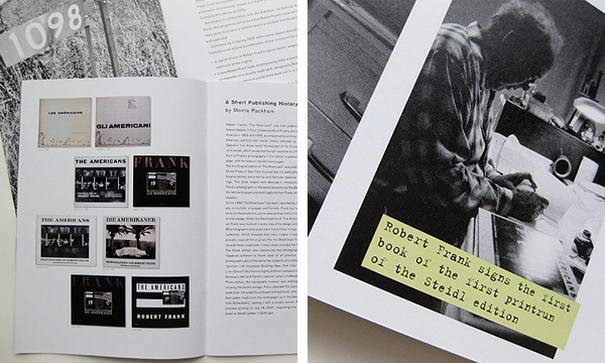 Steidl - The Robert Frank Project (3) Typographic Brochure Designs