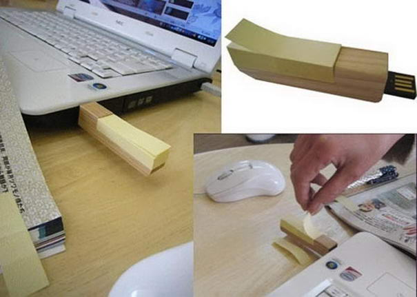 Wooden Post USB Creative USB Drive
