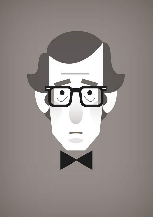 Woody Allen Illustration Portraits