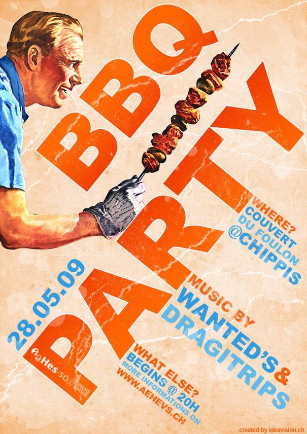 BBQ Party Flyer by Jonaska
