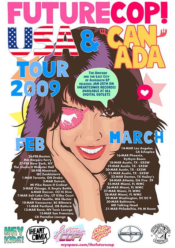 Futurecop US Tour Flyer Print Designs