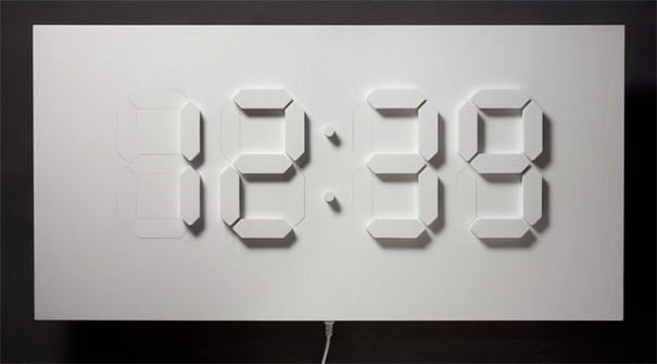 10 most innovative minimal wall clock designs Cool digital wall clock
