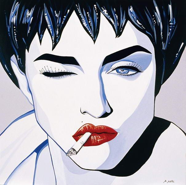Maddona smoking