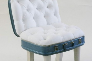 Suitcase Chair – White Fiesta