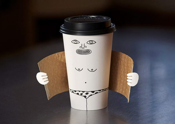 Exhibitionist Coffee Cup