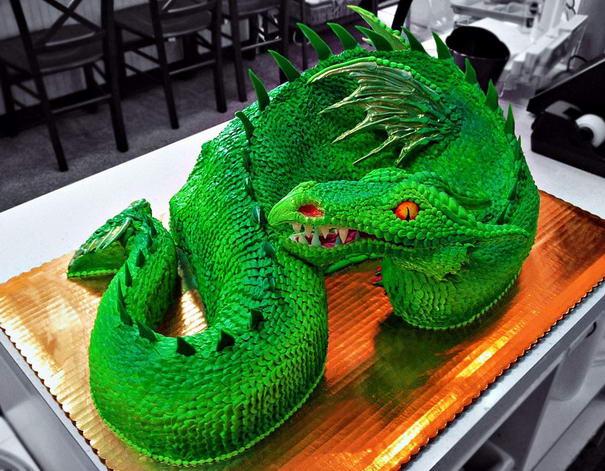 Green Dragon Cake