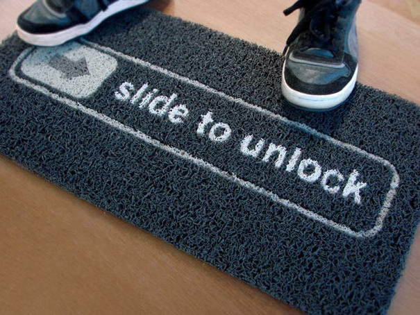 Slide to Unlock Doormat